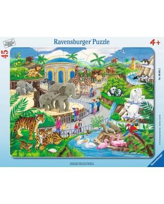 Puzzle Ravensburger - Vizita La Zoo, 45 piese (06661)
