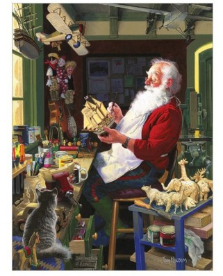 Puzzle Cobble Hill - Santa's Workbench, 500 piese XXL (58289)