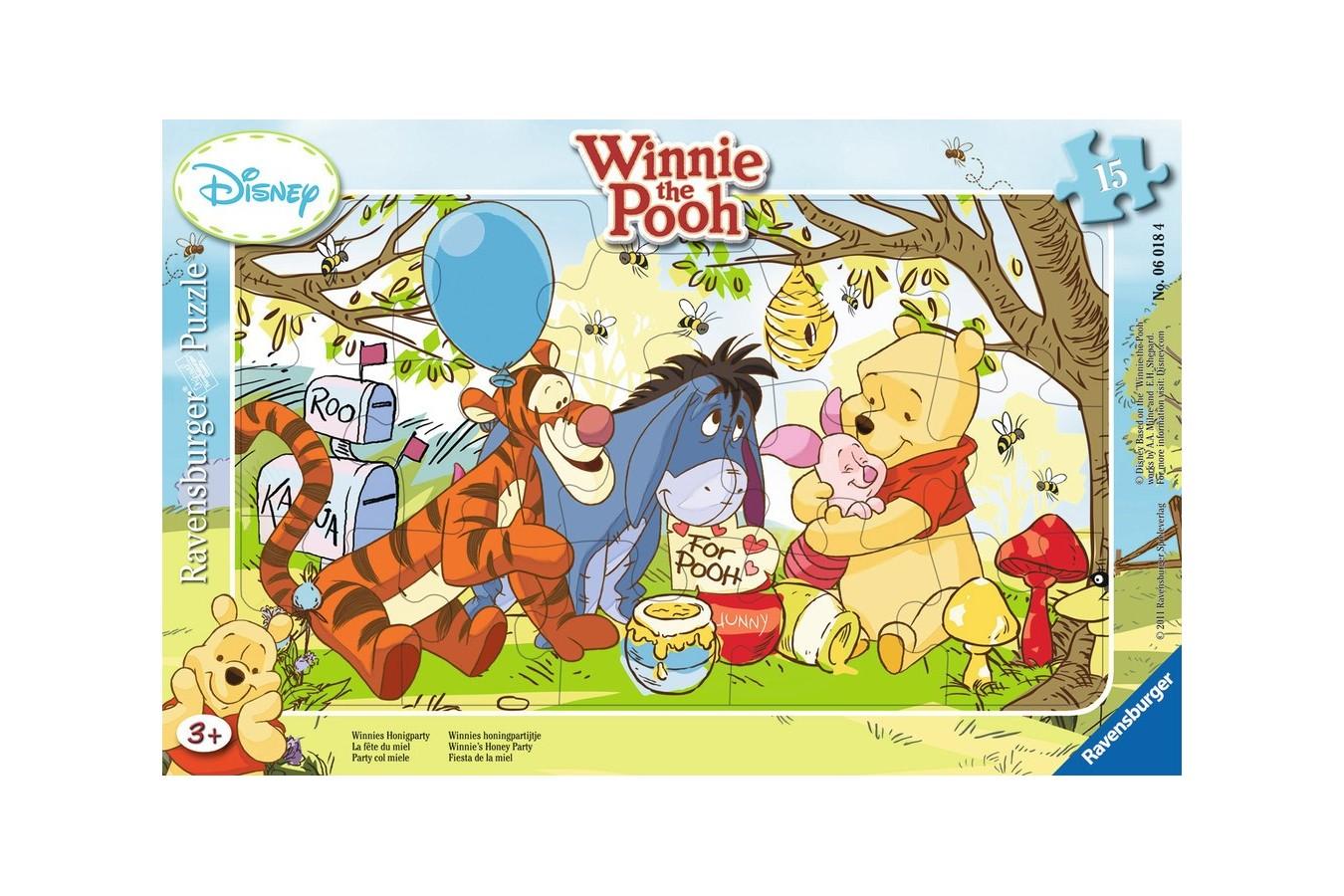 Puzzle Ravensburger - Petrecerea Lui Winnie, 15 piese (06018)