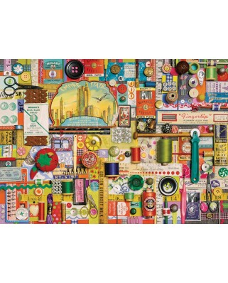 Puzzle Cobble Hill - Shelley Davies: Sewing Notions, 1000 piese (56071)