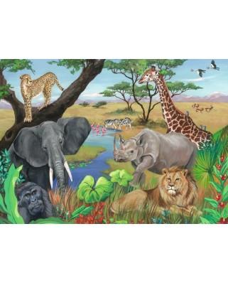 Puzzle Ravensburger - Animale Safari, 60 piese (09600)