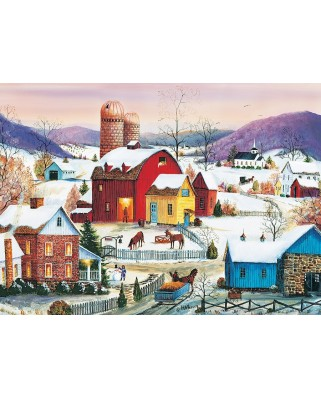 Puzzle Cobble Hill - Winter Neighbors, 1.000 piese (64954)