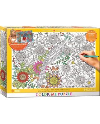 Puzzle de colorat Eurographics - Color Me - Beautiful Garden, 300 piese (56035)