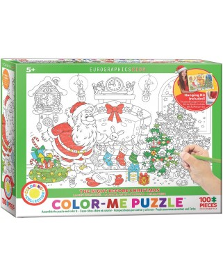 Puzzle de colorat Eurographics - Color Me - The Night Before Christmas, 100 piese (62211)