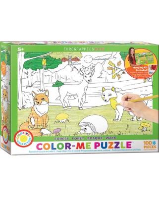 Puzzle de colorat Eurographics - Forest, 100 piese (62206)