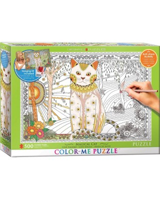 Puzzle de colorat Eurographics - Magical Cat, 500 piese XXL (56045)