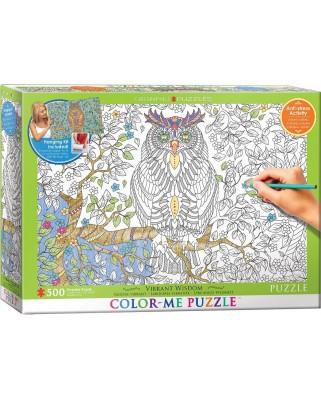 Puzzle de colorat Eurographics - Owl, 500 piese XXL (6055-0887)