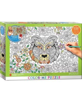 Puzzle de colorat Eurographics - Tiger, 500 piese XXL (56047)