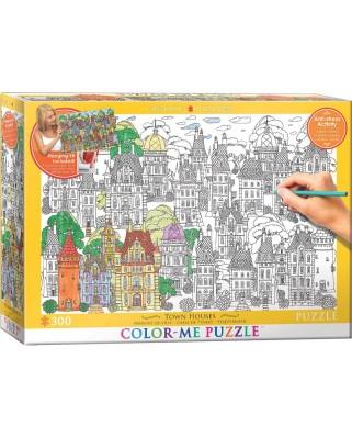Puzzle de colorat Eurographics - Town Houses, 300 piese XXL (56036)