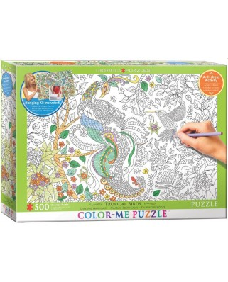 Puzzle de colorat Eurographics - Tropical Birds, 500 piese XXL (6055-0889)