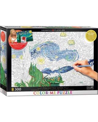 Puzzle de colorat Eurographics - Vincent Van Gogh: Van Gogh Vincent, 300 piese XXL (56041)