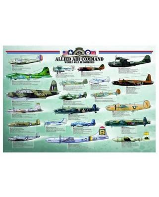 Puzzle Eurographics - Alliierte Bomber aus dem 2. Weltkrieg, 1.000 piese (42154)