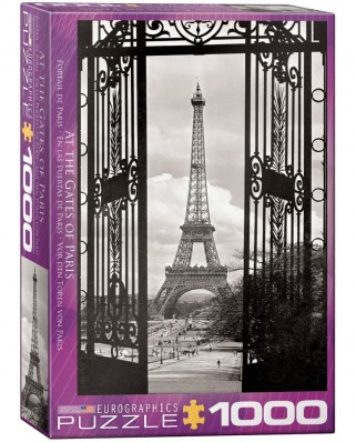 Puzzle Eurographics - At the Gates of Paris, 1.000 piese alb-negru (62237)