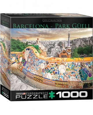 Puzzle Eurographics - Barcelona Park Guell, 1.000 piese (62217)
