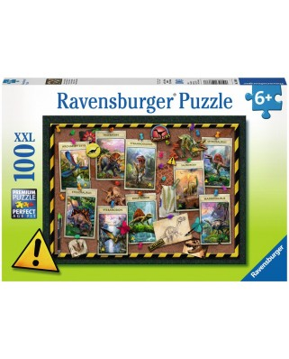 Puzzle Ravensburger - Dinozaur, 100 piese (10868)