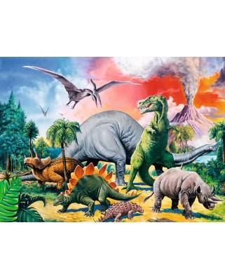 Puzzle Ravensburger - Printre Dinozauri, 100 piese (10957)