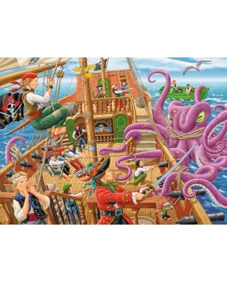 Puzzle Ravensburger - Vasul Piratilor, 100 piese (10939)
