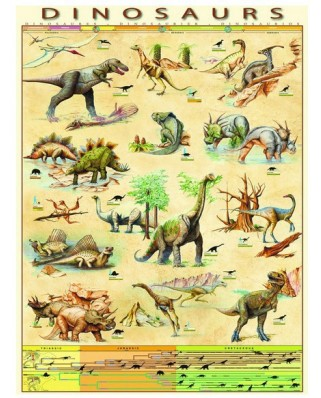 Puzzle Eurographics - Dinosaurs, 1.000 piese (2221)