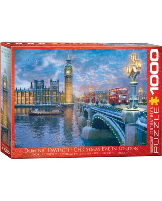 Puzzle Eurographics - Dominic Davison: Christmas Eve in London, 1.000 piese (62228)