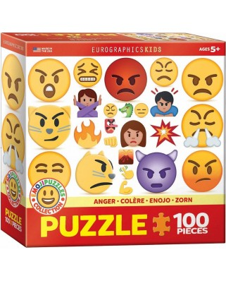 Puzzle Eurographics - Emojipuzzle - Anger, 100 piese (6100-0868)