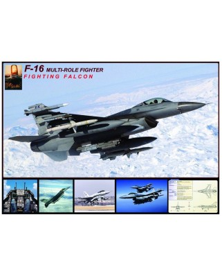 Puzzle Eurographics - F-16 Fighting Falcon, 1.000 piese (42517)