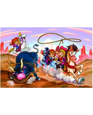 Puzzle Eurographics - Girl Power - Cowgirls, 100 piese (42747)