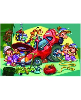 Puzzle Eurographics - Girl Power - Mechanikerin, 100 piese (42748)