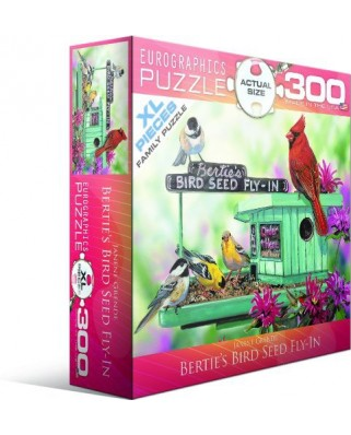 Puzzle Eurographics - Janine Grende: Bertie's Bird Seed Fly-In, 300 piese (43312)
