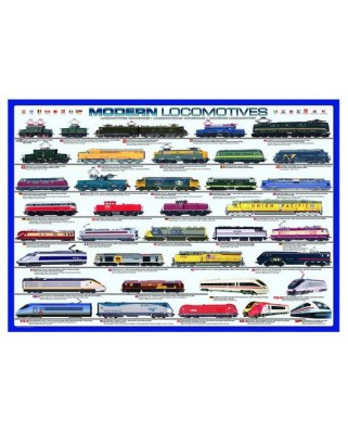Puzzle Eurographics - Modern Locomotives, 1.000 piese (2236)
