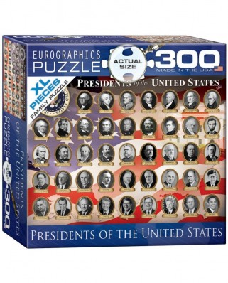 Puzzle Eurographics - Presidents of the United States, 300 piese XXL (56060)