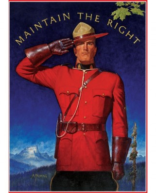 Puzzle Eurographics - Royal Canadian Mounted Police - Maintain the Right, 1.000 piese (58558)