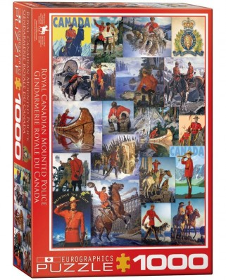 Puzzle Eurographics - Royal Canadian Mounted Police, 1.000 piese (53367)