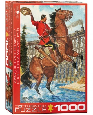 Puzzle Eurographics - Royal Canadian Mounted Police, 1.000 piese (53376)
