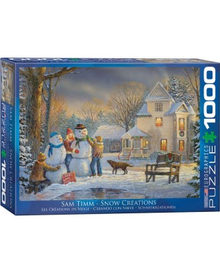 Puzzle Eurographics - Sam Timm: Snow Creations, 1.000 piese (62248)