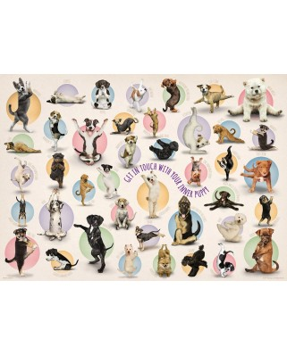 Puzzle Eurographics - Yoga Puppies, 300 piese XXL (58631)