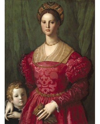 Puzzle Grafika - Agnolo Bronzino: A Young Woman and Her Little Boy, 1540, 300 piese (55951)