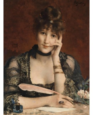 Puzzle Grafika - Alfred Stevens: The Letter, 2000 piese (46324)