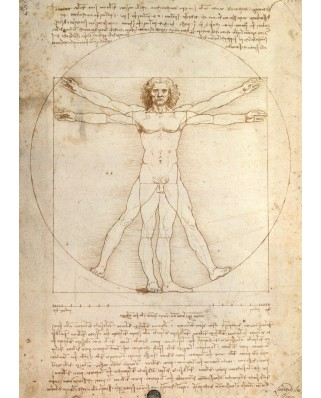 Puzzle Ravensburger - Da Vinci, The Canon Of Proportions, 1.000 piese (15250)