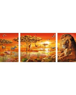 Puzzle triptic Ravensburger - Africa, 1.000 piese (19836)