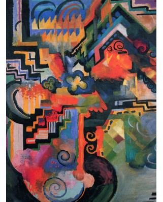 Puzzle Grafika - August Macke: Farbige Komposition, 1912, 2.000 piese (46209)
