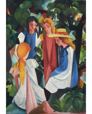 Puzzle Grafika - August Macke: Four Girls, 1912-1913, 1.000 piese (46208)
