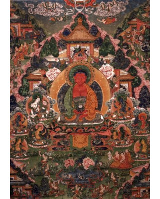 Puzzle Grafika - Buddha Amitabha in His Pure Land of Suvakti, 1.500 piese (61886)