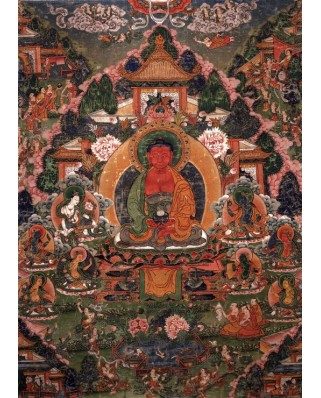 Puzzle Grafika - Buddha Amitabha in His Pure Land of Suvakti, 500 piese (61888)