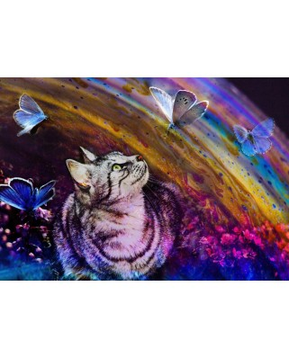Puzzle Grafika - Cat and Butterflies, 1.500 piese (63463)