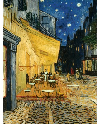 Puzzle Ravensburger - Vincent Van Gogh, Cafe At Night, 1.000 piese (15373)