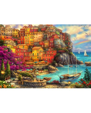 Puzzle Grafika - Chuck Pinson: A Beautiful Day at Cinque Terre, 1.000 piese (64546)