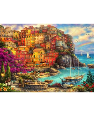 Puzzle Grafika - Chuck Pinson: A Beautiful Day at Cinque Terre, 2.000 piese (64545)