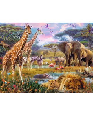 Puzzle Ravensburger - Buntes Africa, 1.500 piese (16333)