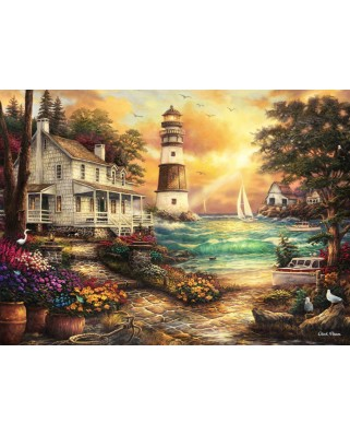 Puzzle Grafika - Chuck Pinson: Cottage by the Sea, 300 piese (62040)