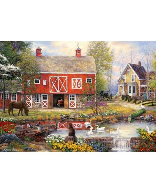 Puzzle Grafika - Chuck Pinson: Reflections On Country Living, 1.000 piese (62165)